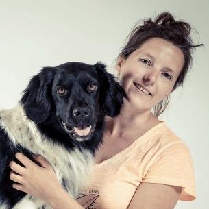 Femke Gebruers en haar hond Mauro