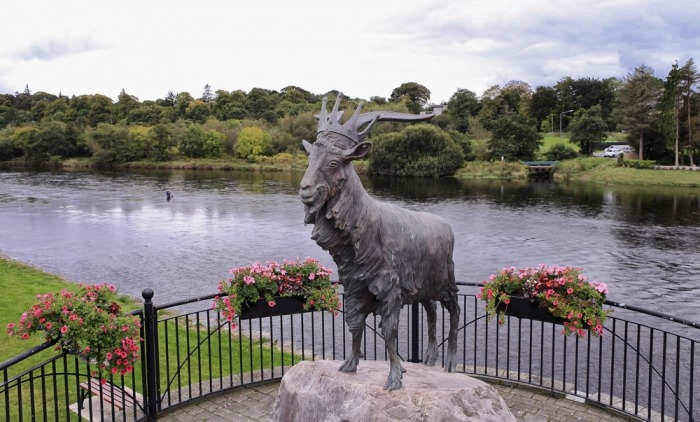 Standbeeld King Puck in Killorglin