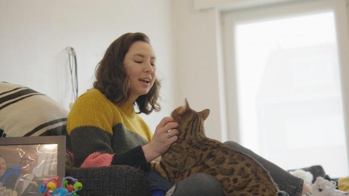 Nuria en haar kat